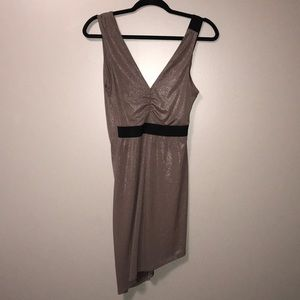 Express asymmetrical shimmering /sparkly dress